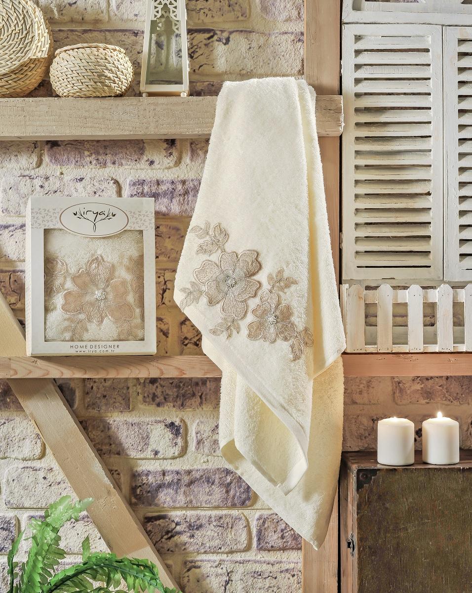 Купить Полотенца IRYA, Полотенце Pearly Цвет: Кремовый (70х130 см), Турция, Махра
