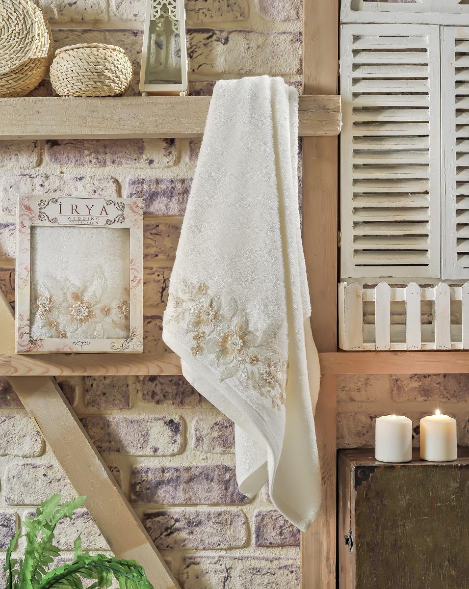Купить Полотенца IRYA, Полотенце Perceive Цвет: Молочный (70х130 см), Турция, Бежевый, Махра