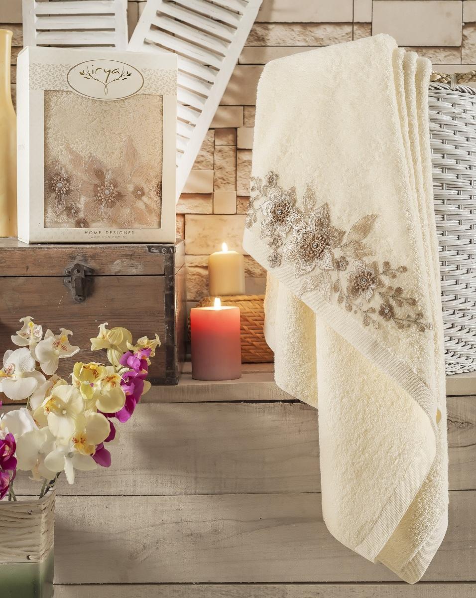 Купить Полотенца IRYA, Полотенце Perceive Цвет: Кремовый (85х150 см), Турция, Махра