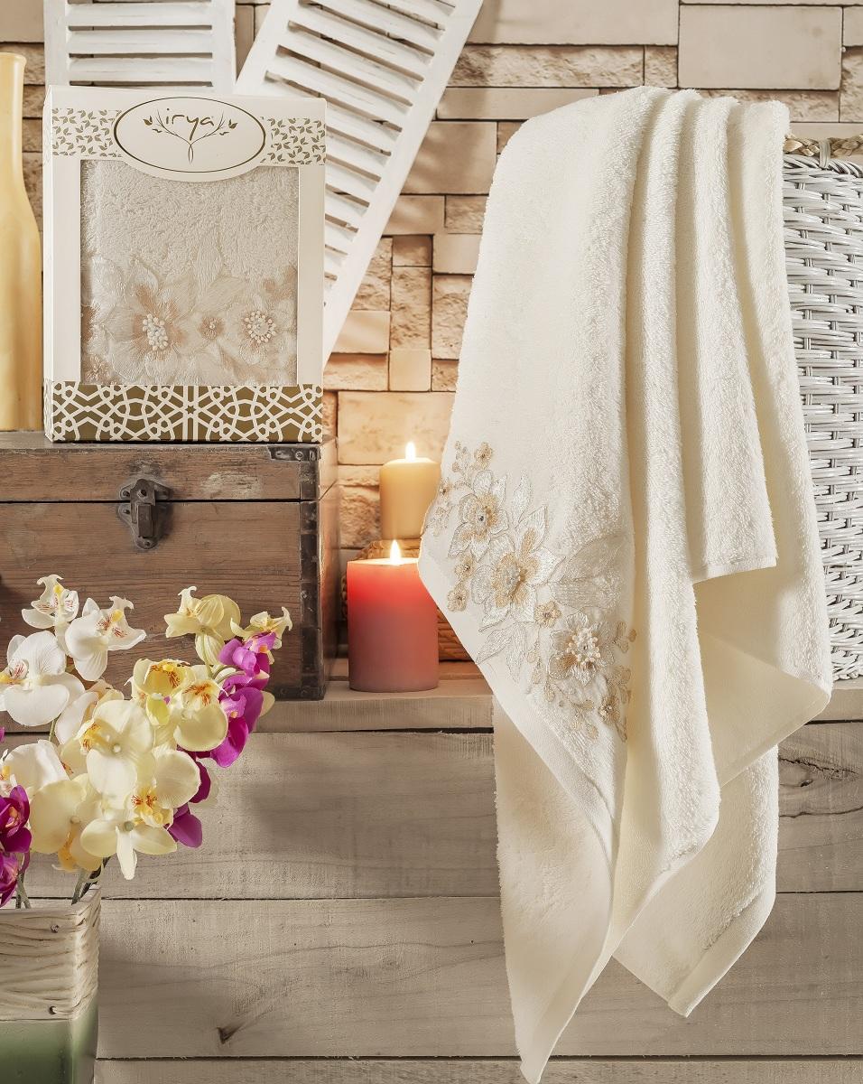 Купить Полотенца IRYA, Полотенце Perceive Цвет: Молочный (85х150 см), Турция, Бежевый, Махра
