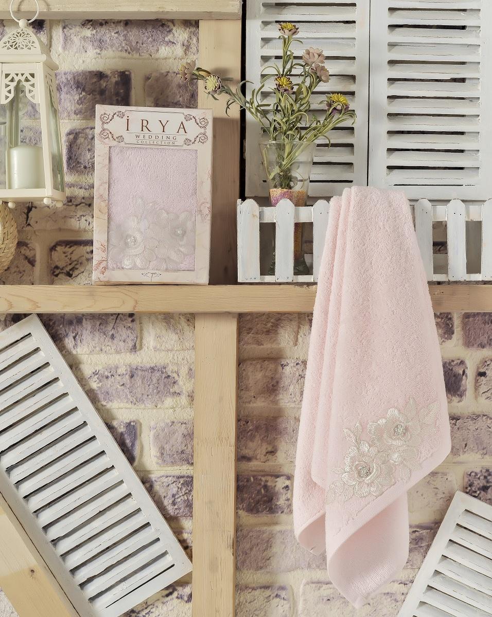 Купить Полотенца IRYA, Полотенце Romantic Цвет: Розовый (50х90 см), Турция, Махра