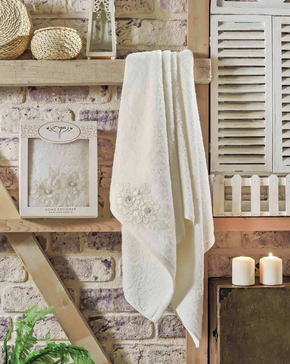 Купить Полотенца IRYA, Полотенце Romantic Цвет: Молочный (70х130 см), Турция, Бежевый, Махра