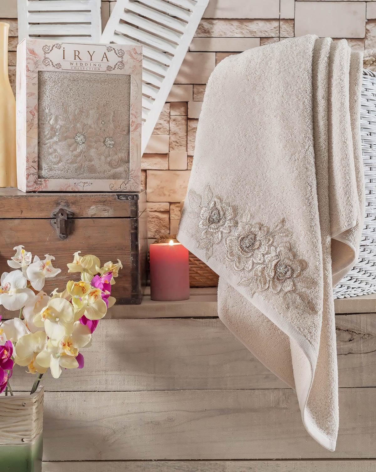 Купить Полотенца IRYA, Полотенце Romantic Цвет: Бежевый (85х150 см), Турция, Махра