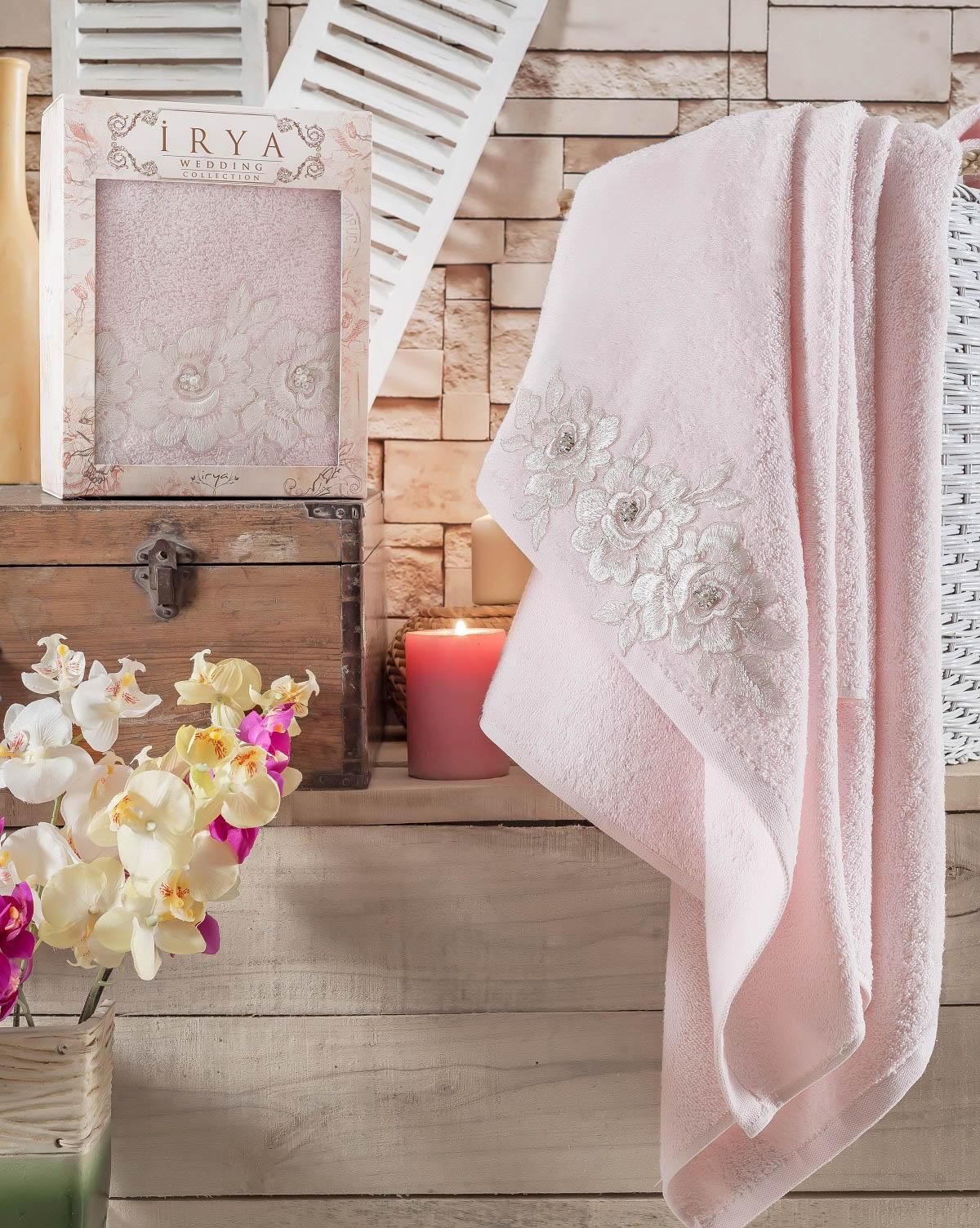 Купить Полотенца IRYA, Полотенце Romantic Цвет: Розовый (85х150 см), Турция, Махра