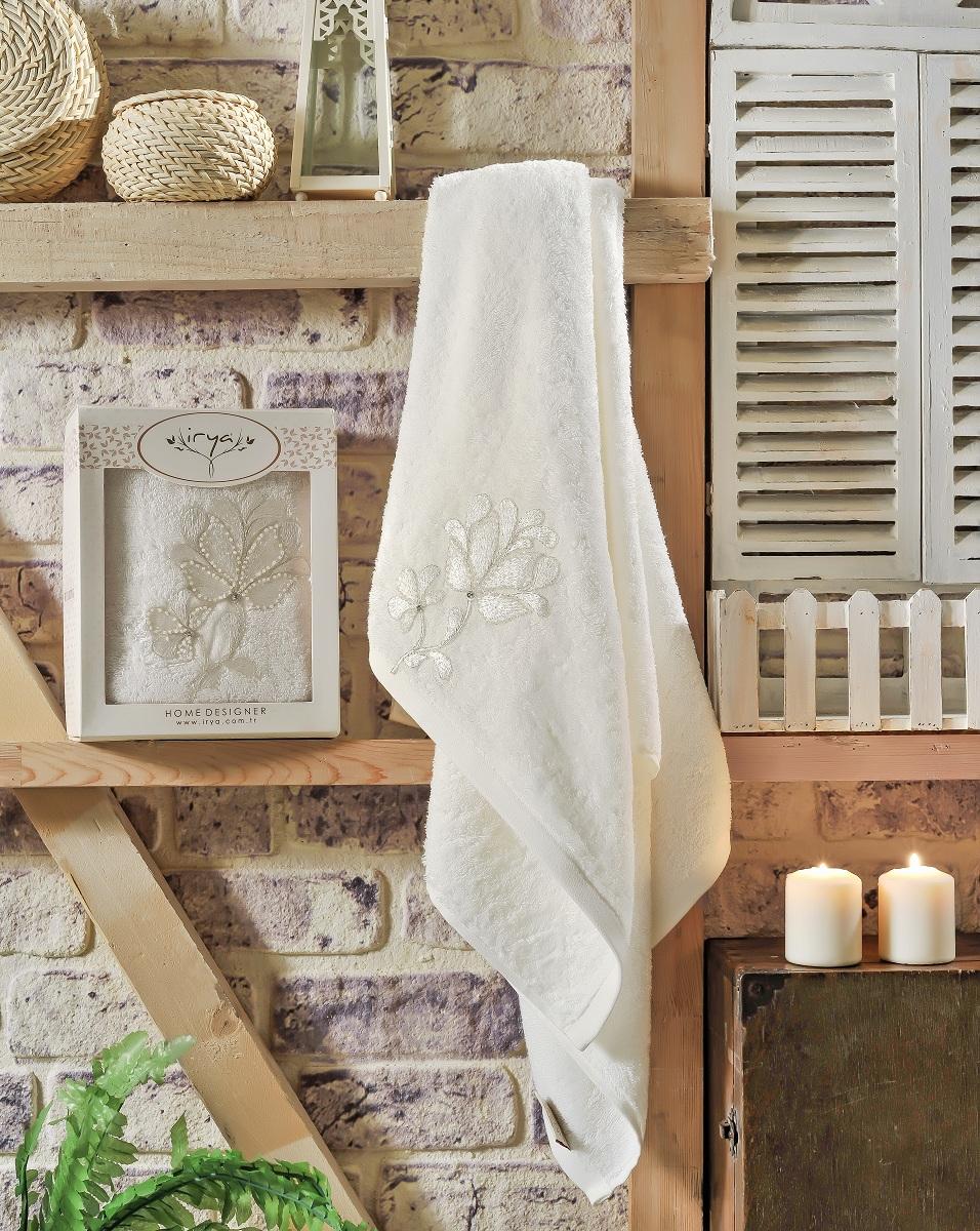 Купить Полотенца IRYA, Полотенце Senses Цвет: Молочный (70х130 см), Турция, Бежевый, Махра