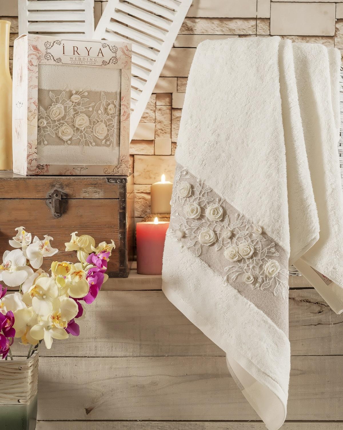 Купить Полотенца IRYA, Полотенце Heaven Цвет: Молочный (85х150 см), Турция, Бежевый, Махра