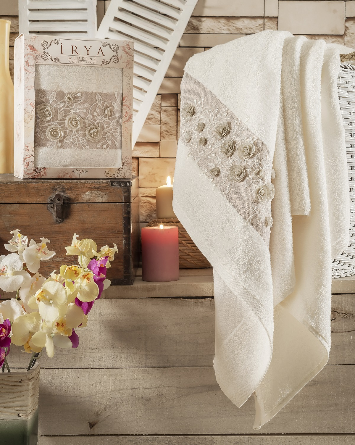 Купить Полотенца IRYA, Полотенце Heaven Цвет: Бежевый (85х150 см), Турция, Махра