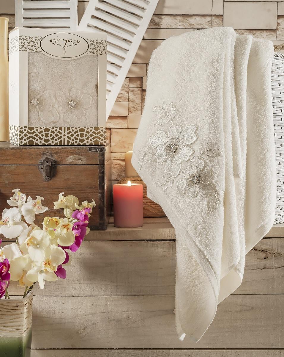 Купить Полотенца IRYA, Полотенце Pearly Цвет: Молочный (85х150 см), Турция, Бежевый, Махра