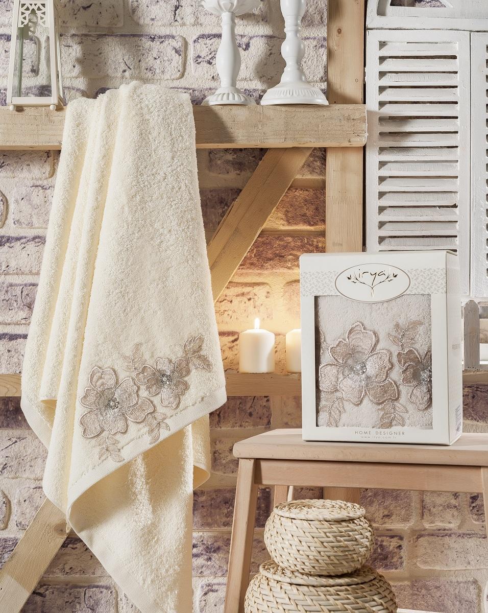 Купить Полотенца IRYA, Полотенце Pearly Цвет: Кремовый (85х150 см), Турция, Махра