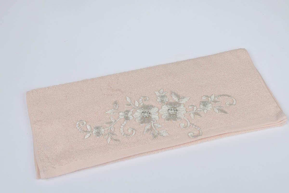 Купить Полотенца IRYA, Полотенце Beloved Цвет: Молочный (70х130 см), Турция, Бежевый, Махра
