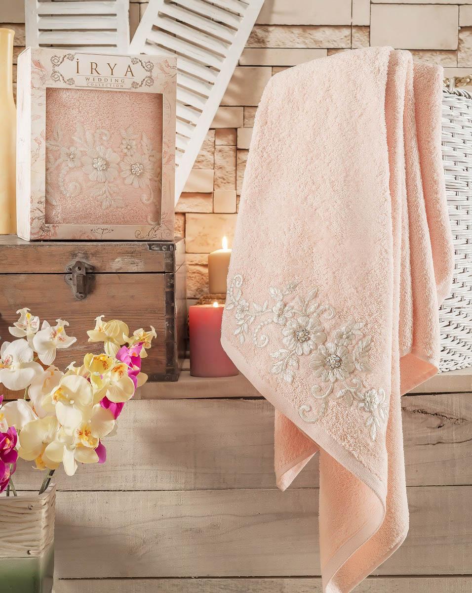 Купить Полотенца IRYA, Полотенце Beloved Цвет: Абрикосовый (85х150 см), Турция, Махра