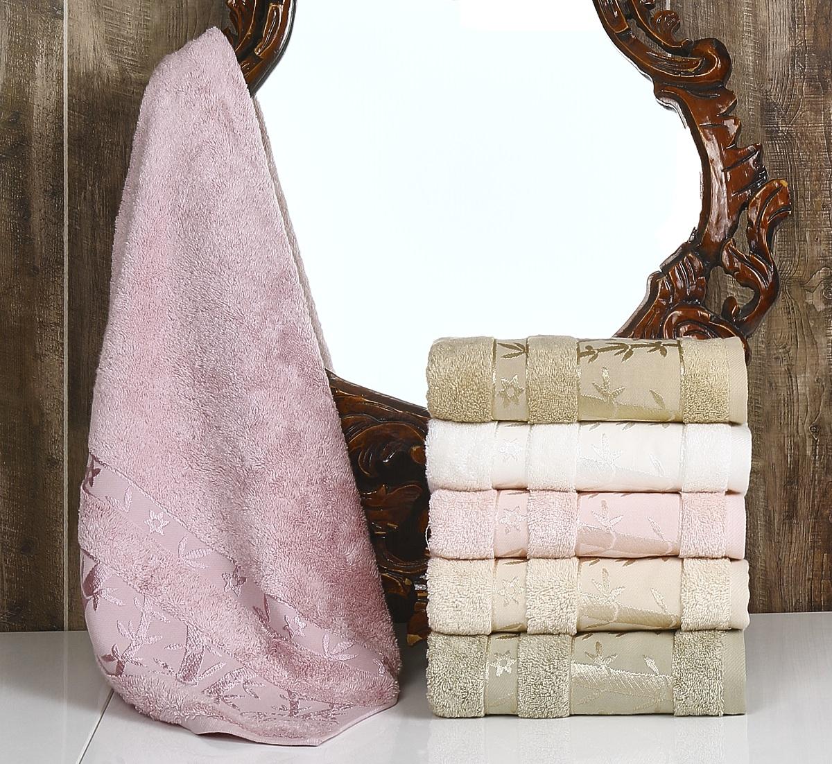 Полотенца Pupilla, Полотенце Elit Soft (50х90 см - 6 шт), Турция, Розовый, Бамбук  - Купить