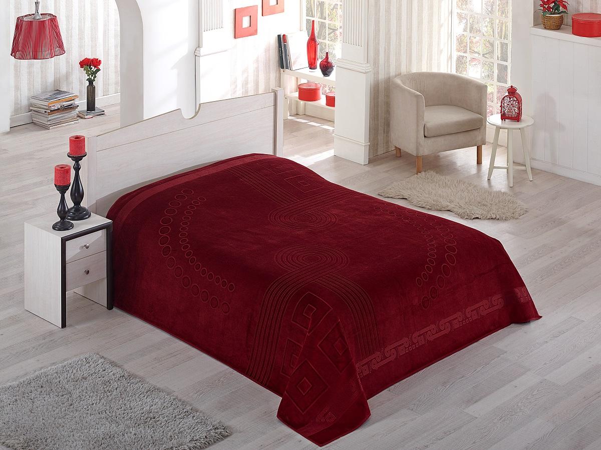 Купить Простыни Pupilla, Простынь-покрывало Sorti Цвет: Бордовый (200х220 см), Турция, Хлопковая махра