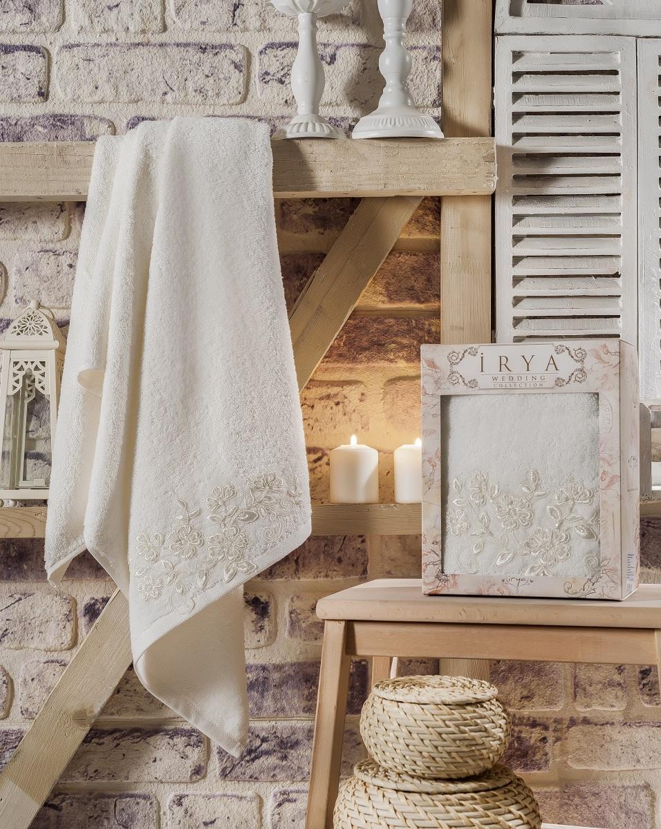 Полотенца IRYA, Полотенце Sweet Цвет: Молочный (70х140 см), Турция, Бежевый, Махра  - Купить
