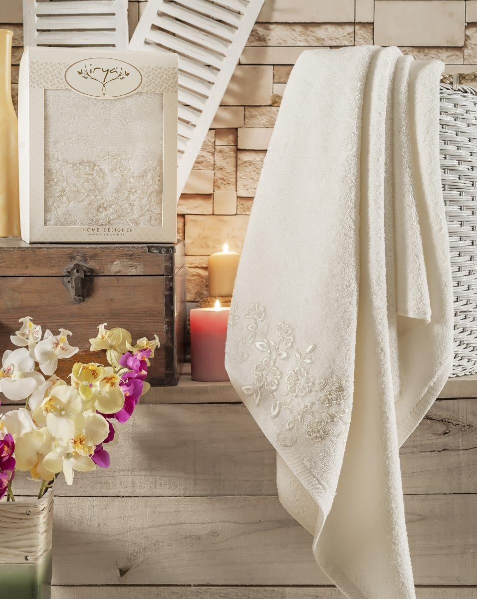 Купить Полотенца IRYA, Полотенце Sweet Цвет: Молочный (85х150 см), Турция, Бежевый, Махра