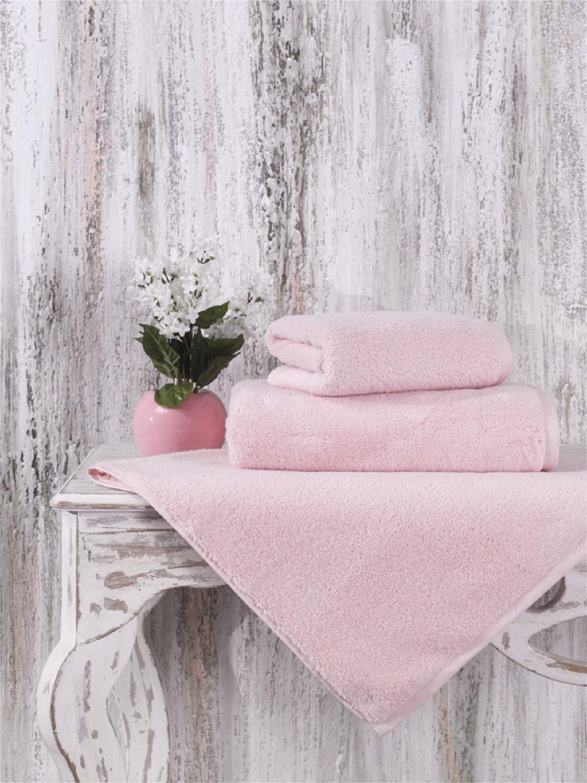 Купить Полотенца Karna, Полотенце Mora Цвет: Пудра (90х150 см), Турция, Розовый, Махра