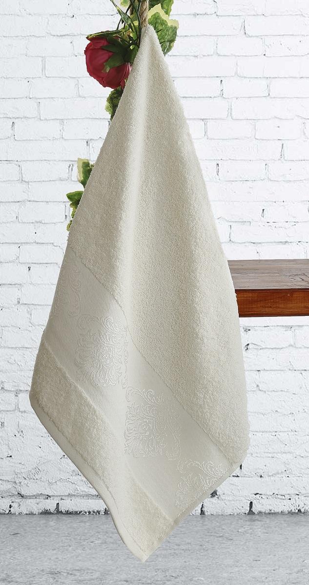 Купить Полотенца Karna, Полотенце Dora Цвет: Кремовый (50х90 см), Турция, Махра