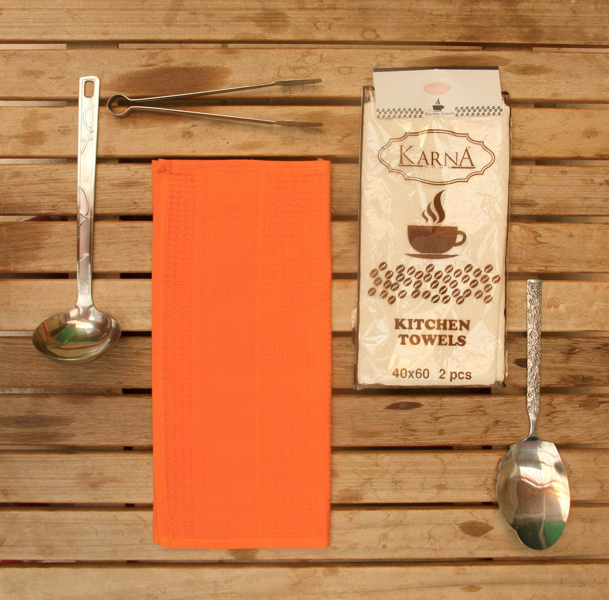 Полотенца Medley Кухонное полотенце Rosemary Цвет: Оранжевый (40х60 см - 2 шт) primavelle кухонное полотенце floressa цвет фиолетовый 40х60 см 2 шт