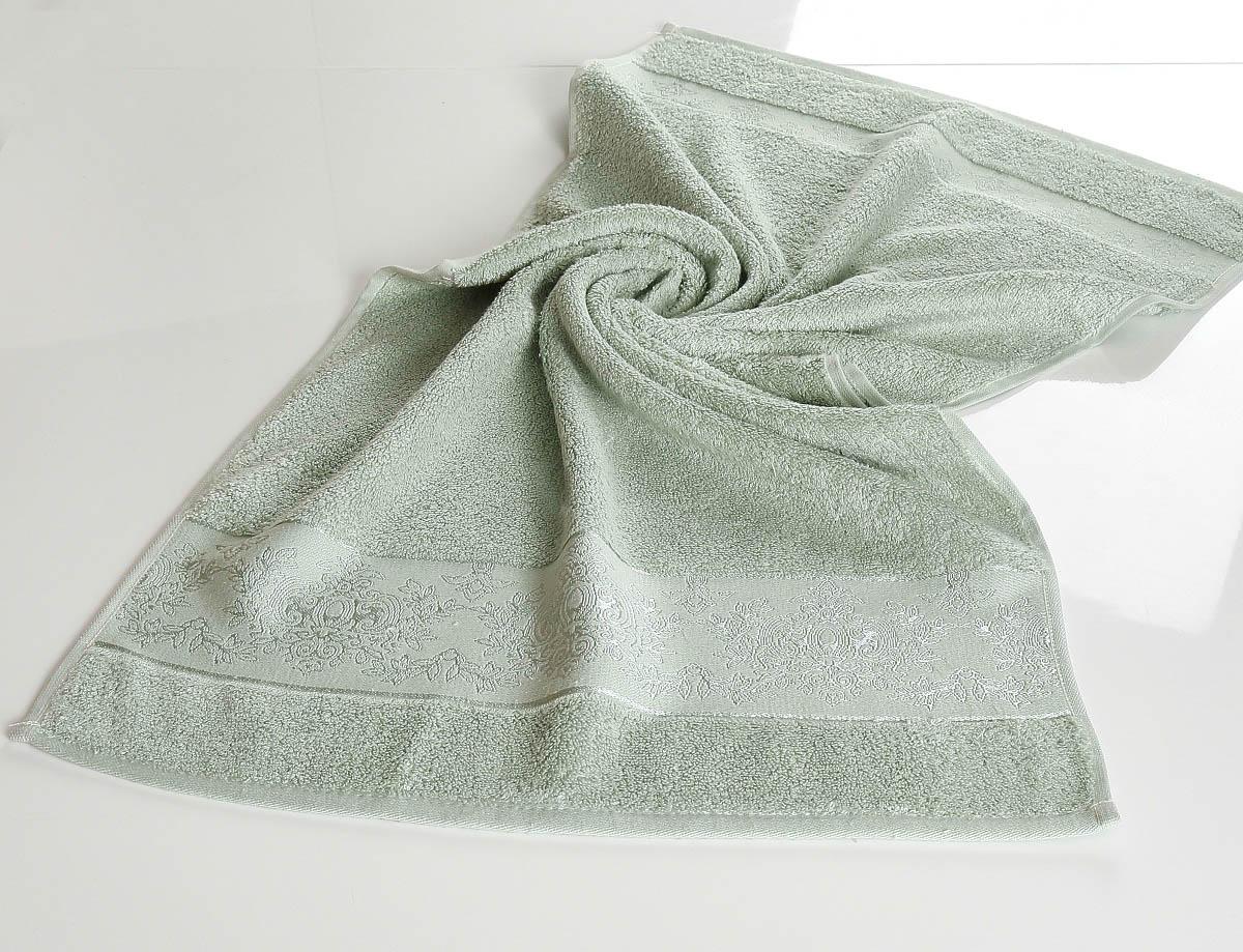 Полотенца Karna, Полотенце Pandora - 2 Цвет:Ментоловый(70х140 см), Турция, Зеленый, Бамбук  - Купить