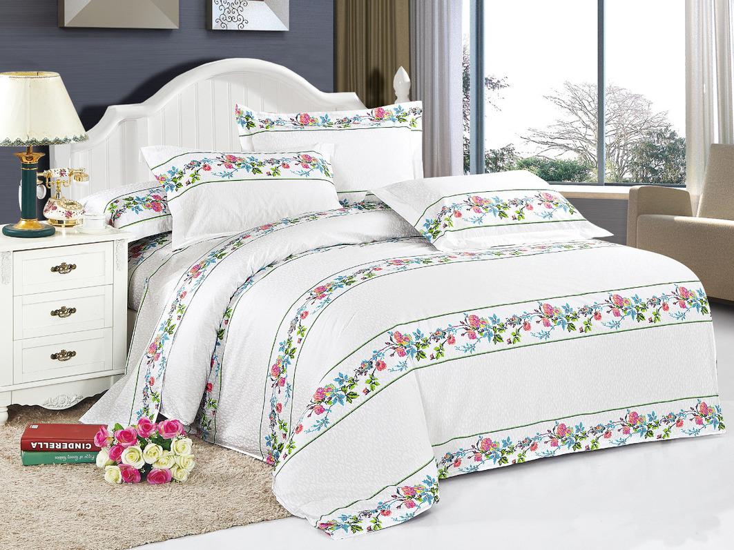 Купить Комплекты постельного белья Cleo, Постельное белье Furina (1, 5 спал.), Китай, Белый, Хлопковый сатин