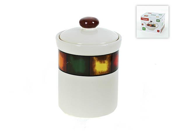 Купить Хранение продуктов ENS GROUP, Банка для сыпучих Мармелад (12х18 см), Китай, Желтый, Зеленый, Керамика