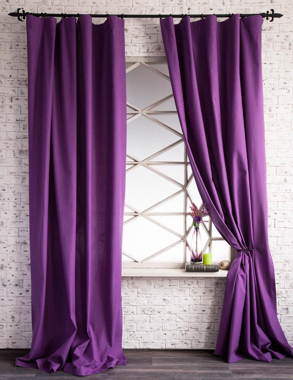 Купить Шторы PASIONARIA, Классические шторы Daye Цвет: Фиолетовый, Россия, Портьерная ткань