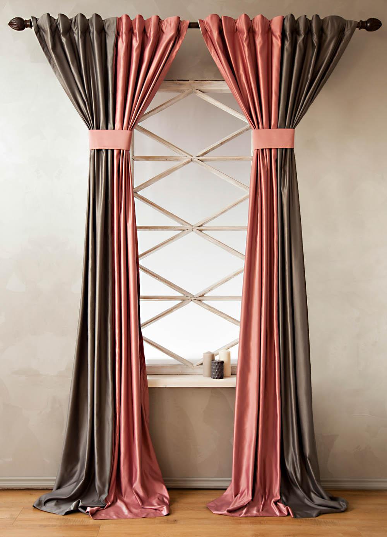 Купить Шторы PASIONARIA, Классические шторы Cleopatra Цвет: Розовый, Россия, Атлас