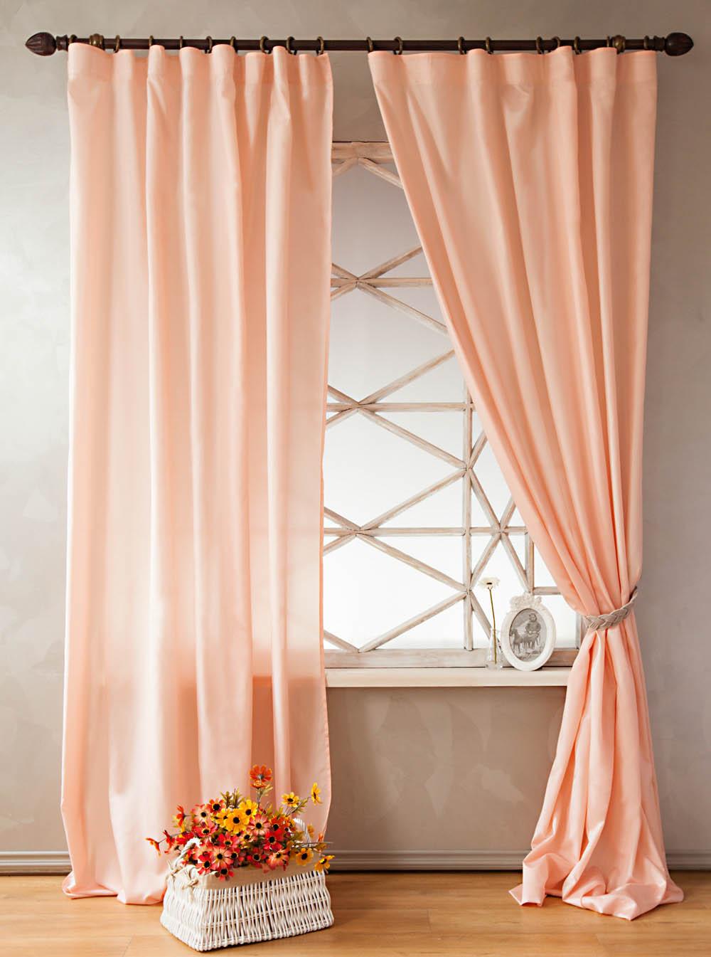 Купить Шторы PASIONARIA, Классические шторы Lambert Цвет: Розовый, Россия, Портьерная ткань