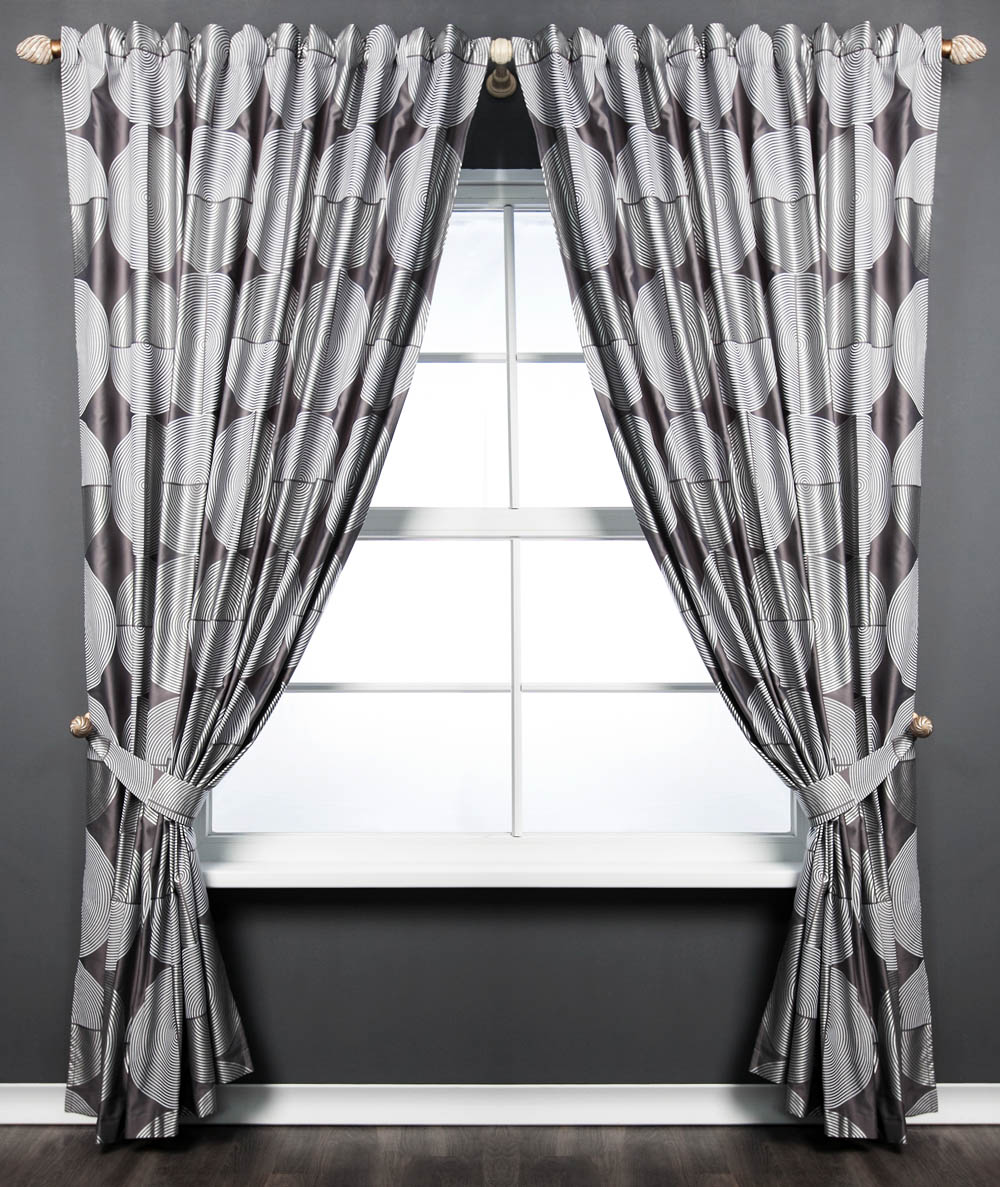 Купить Шторы PASIONARIA, Классические шторы Sherrie Цвет: Серый, Россия, Портьерная ткань
