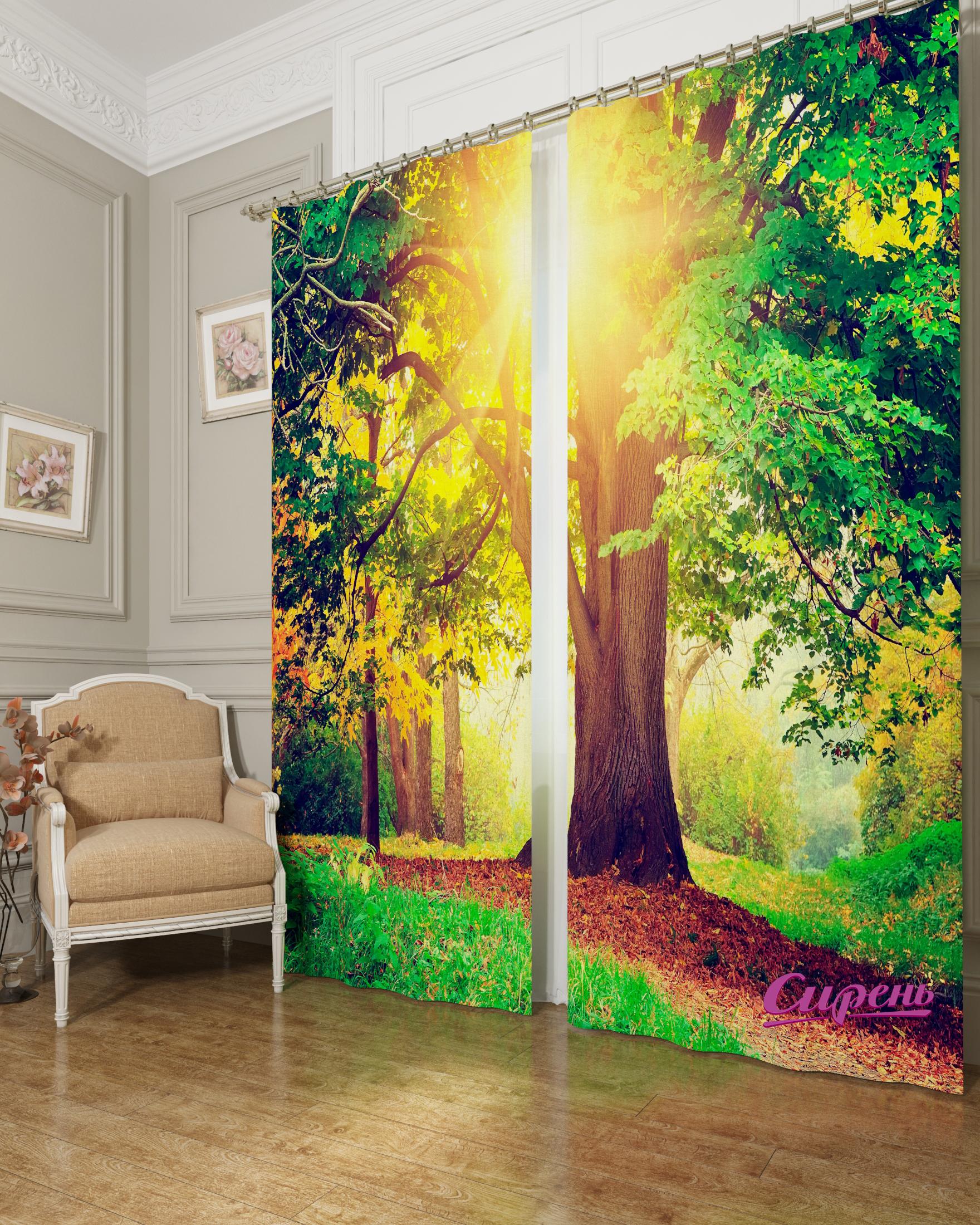 Шторы Сирень Фотошторы Дерево В Парке цена
