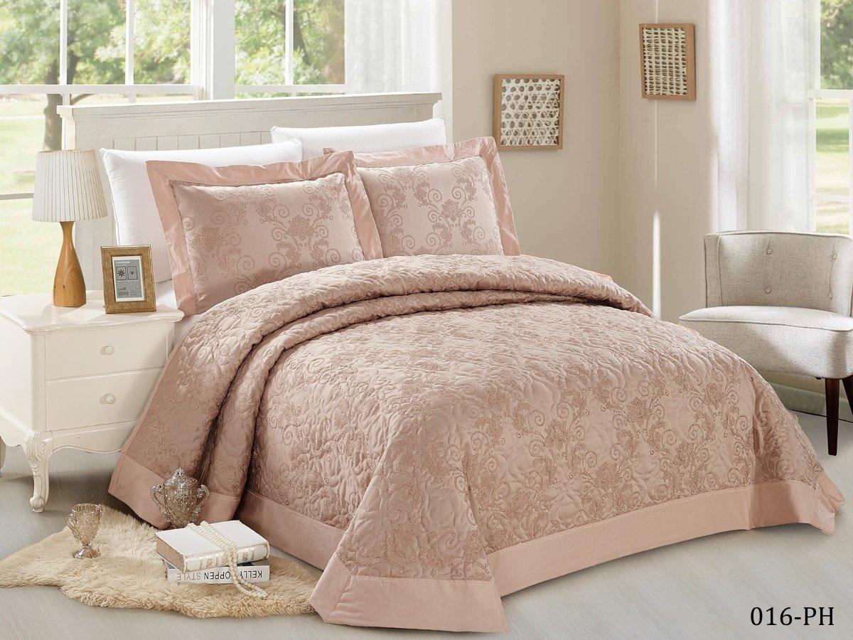 Купить Пледы и покрывала Cleo, Покрывало Sal (230х250 см), Китай, Розовый, Синтетический жаккард