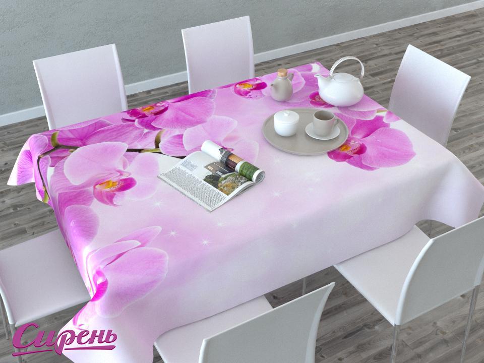Скатерти и салфетки Сирень Скатерть Сиреневая Орхидея (145х220 см)