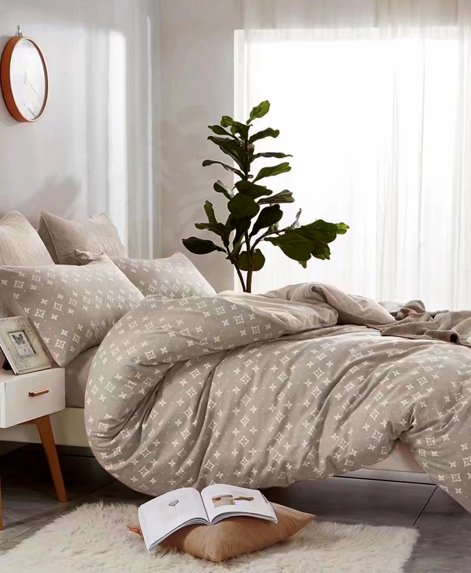 Купить Комплекты постельного белья Tango, Постельное белье Alec (2 сп. евро), Китай, Кремовый, Хлопковый сатин