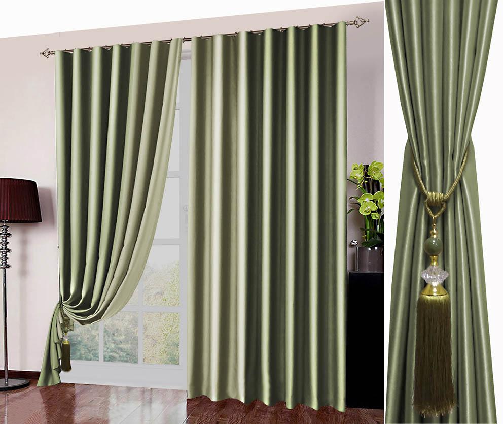 Классические шторы Hayleigh Цвет: Оливковый фото