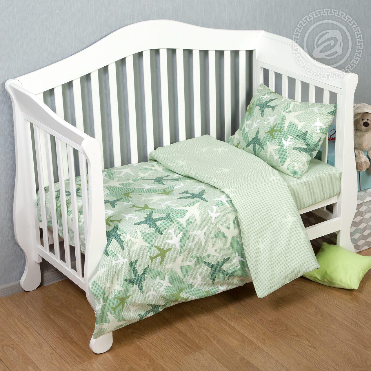 Детское Постельное белье Jada Цвет: Зеленый (112х147 см) фото