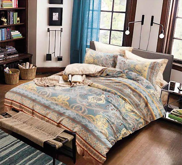 Купить Комплекты постельного белья Tango, Постельное бельеGina(1, 5 спал.), Китай, Бежевый, Серый, Хлопковый сатин