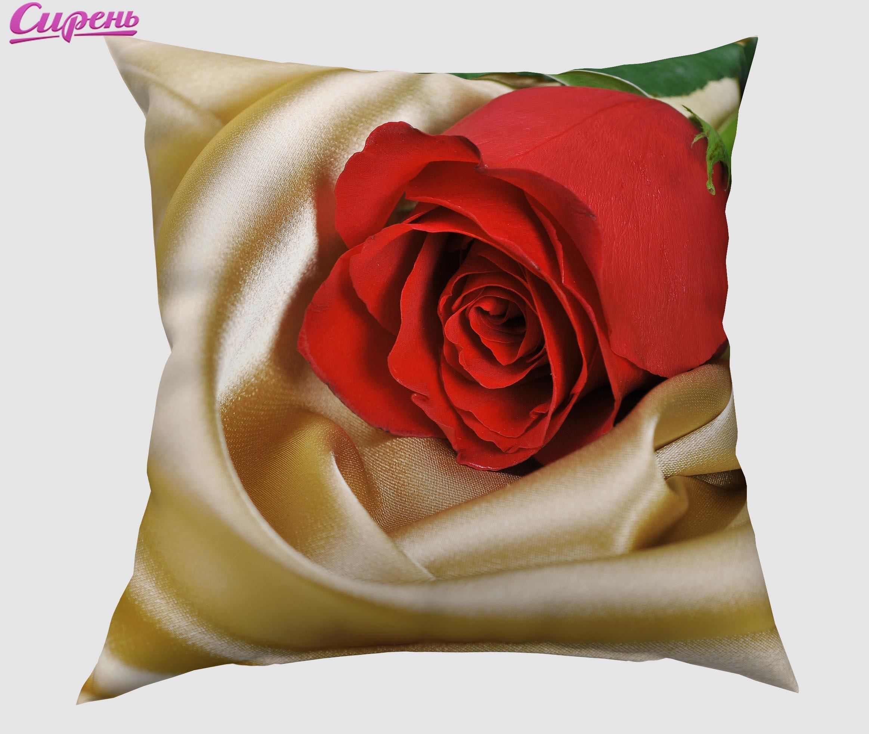 Декоративные подушки Сирень Декоративная подушка Красная Роза (40х40 см) подушки декоративные сирень декоративная подушка любовное письмо