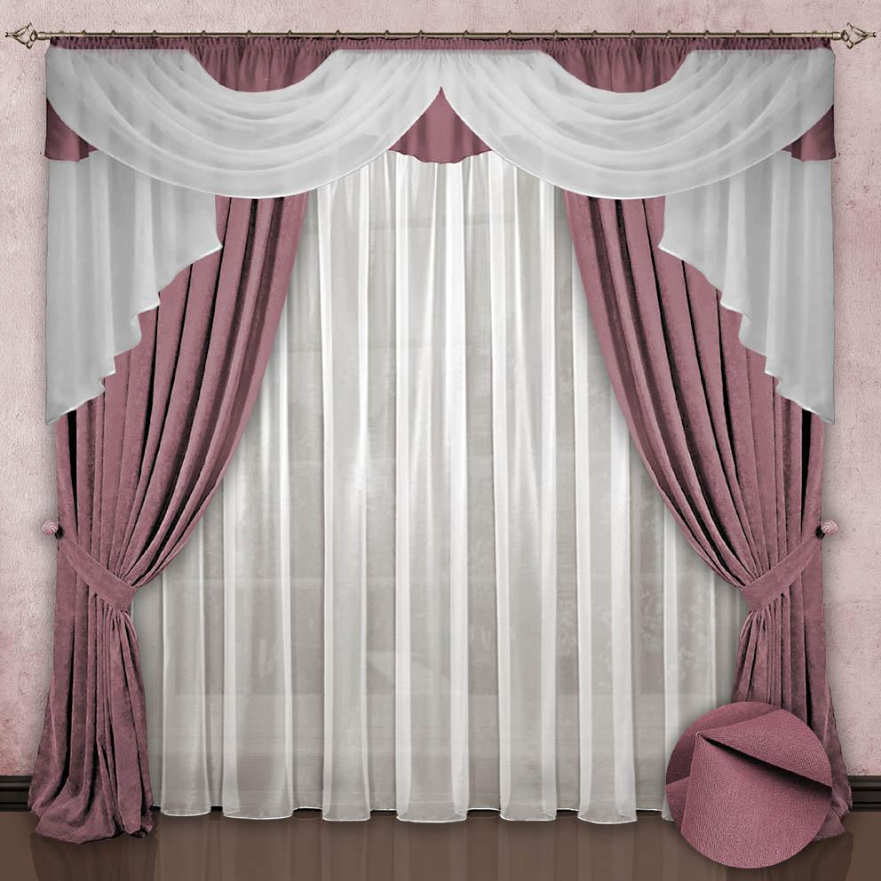 Шторы РеалТекс Шторы с ламбрекеном Радость Цвет: Розовый шторы реалтекс шторы с ламбрекеном радость цвет фиолетовый