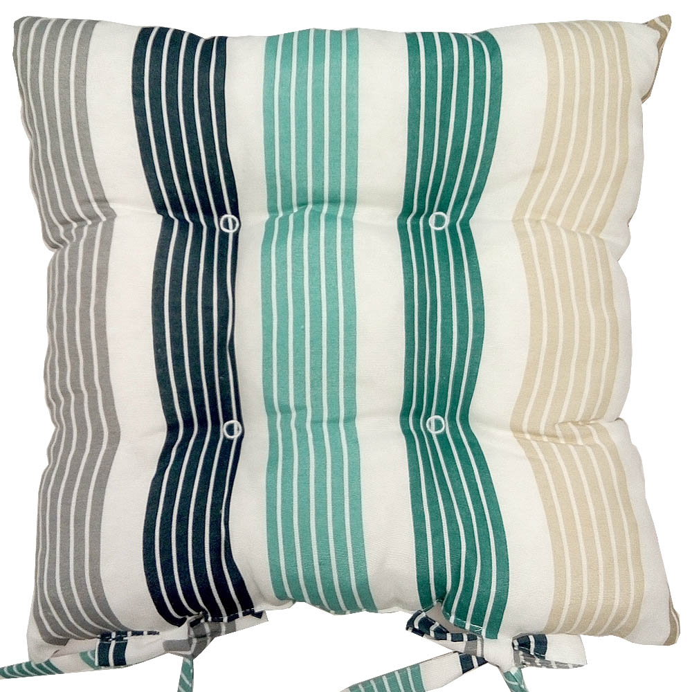Купить Декоративные подушки Apolena, Подушка на стул Lorena Royal (40х40), Россия-Турция, Зеленый, Серый, Поликоттон