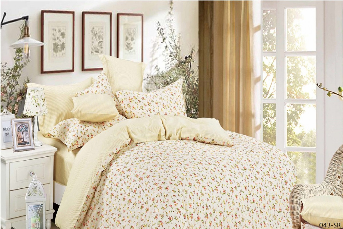 Купить Комплекты постельного белья Cleo, Постельное белье Rokansi (2 спал.), Китай, Желтый, Хлопковый сатин