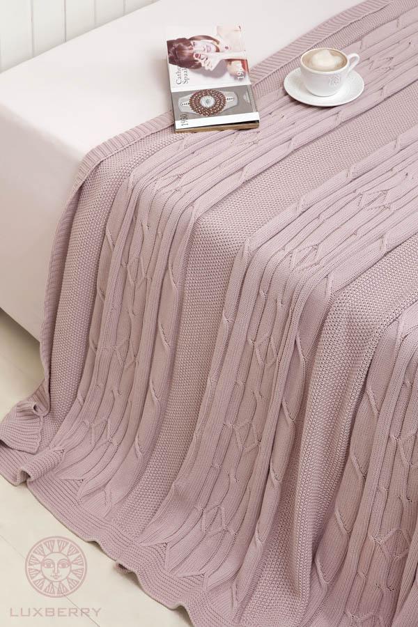 Купить Пледы и покрывала Luxberry, Плед Lux40 Цвет: Пудра Тон 03  (220х240 см), Португалия, Вязаный хлопок