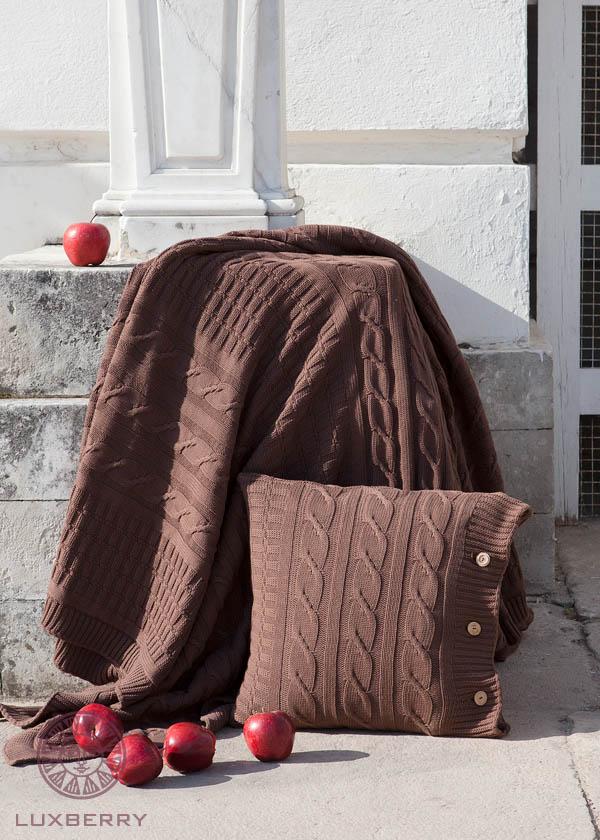 Купить Пледы и покрывала Luxberry, Плед Imperio Цвет: Шоколадный  (200х220 см), Португалия, Коричневый, Вязаный хлопок