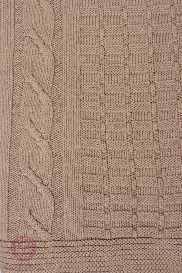 Купить Пледы и покрывала Luxberry, Плед Imperio Цвет: Табачный (220х240 см), Португалия, Вязаный хлопок