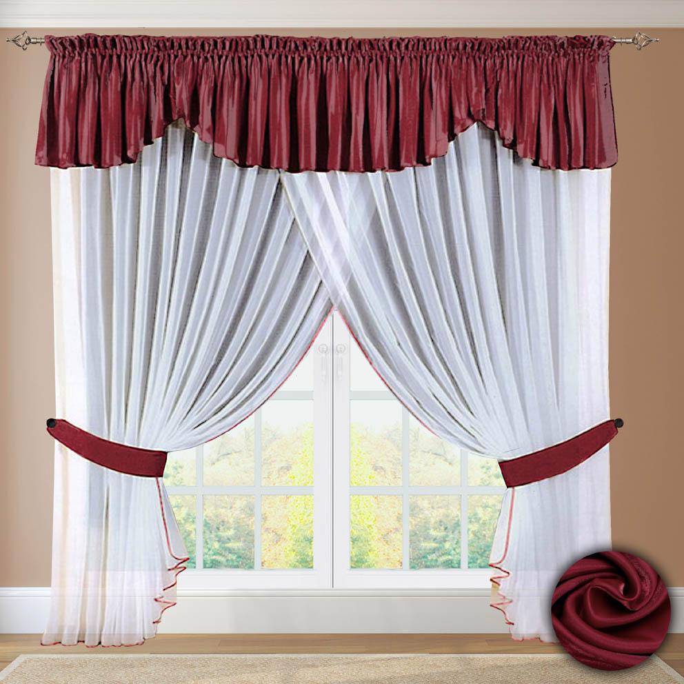 Шторы РеалТекс Шторы с ламбрекеном Helena Цвет: Бордовый шторы реалтекс шторы с ламбрекеном радость цвет фиолетовый