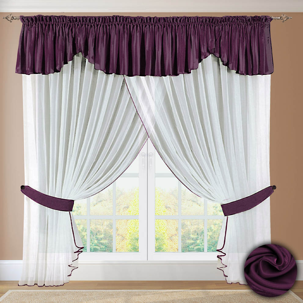 Шторы РеалТекс Шторы с ламбрекеном Nigelia Цвет: Фиолетовый шторы реалтекс шторы с ламбрекеном радость цвет фиолетовый