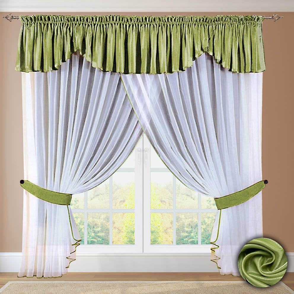 Шторы РеалТекс Шторы с ламбрекеном Andrew Цвет: Зеленый шторы реалтекс шторы с ламбрекеном радость цвет фиолетовый