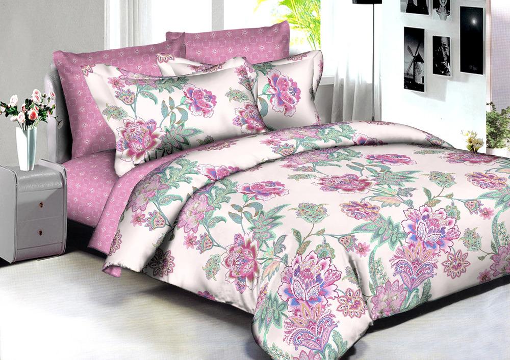 Купить Комплекты постельного белья Amore Mio, Постельное белье Adelaide (2 сп. евро), Китай, Розовый, Сиреневый, Хлопковый сатин