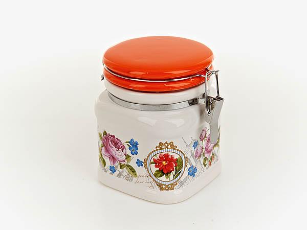 Купить Хранение продуктов Nouvelle, Банка для сыпучих Лето В Европе (9х9х12 см), Китай, Красный, Керамика
