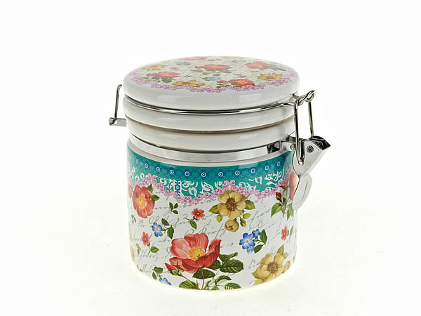 Купить Хранение продуктов Nouvelle, Банка для сыпучих Цветочная Поэма (10х13 см), Китай, Синий, Керамика