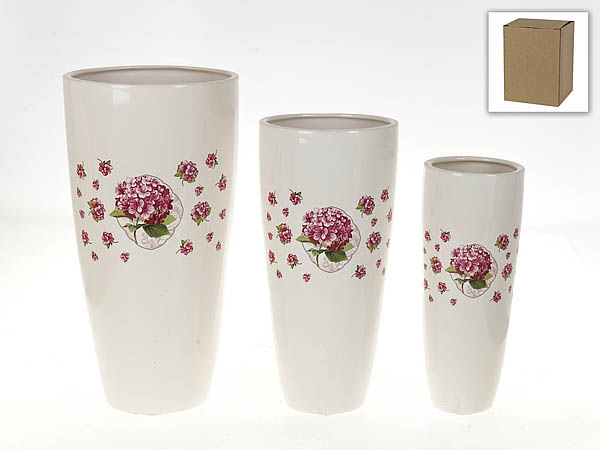 Вазы Nouvelle Ваза Розовая Гортензия (Набор) набор для специй 2 предмета nouvelle розовая гортензия 663010